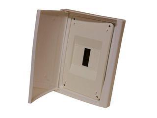 Rozdzielnia Diamand IP40 szara wyłącznik+8 modułów drzwi pełne PCE