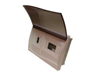 Rozdzielnia Diamand IP40 biała wyłącznik+4 moduły drzwi transparentne PCE