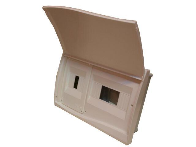 Rozdzielnia Diamand IP40 biała wyłącznik+8 modułów drzwi pełne PCE