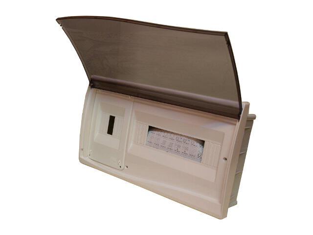 Rozdzielnia Diamand IP40 biała wyłącznik+13 modułów drzwi transparentne PCE