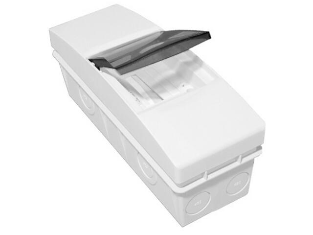 Rozdzielnia naścienna Combi biała 4 moduły IP40 z listw.drzwi transp. PCE