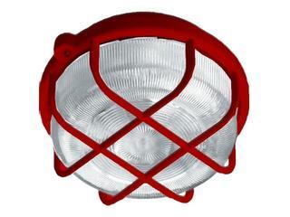 xPlafon przemysłowy hermetyczny OKRĄGŁY 1x100W E27 czerwony Lena Lighting