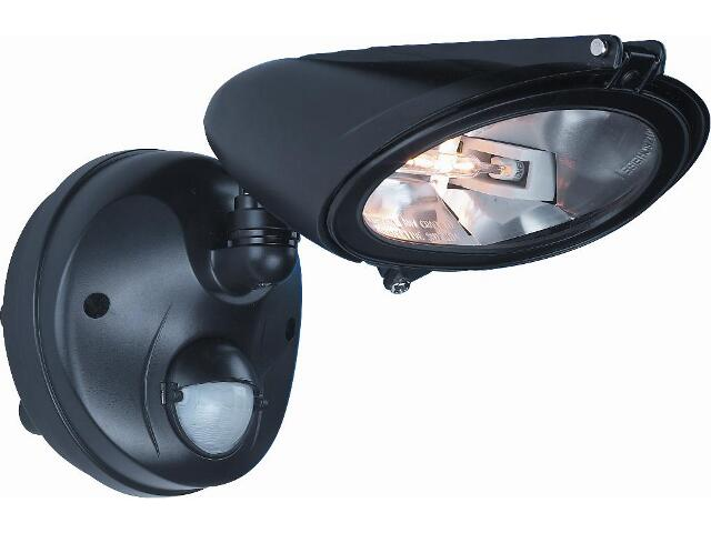 xNaświetlacz halogenowy PIR ED-205B czarny Eura-Tech