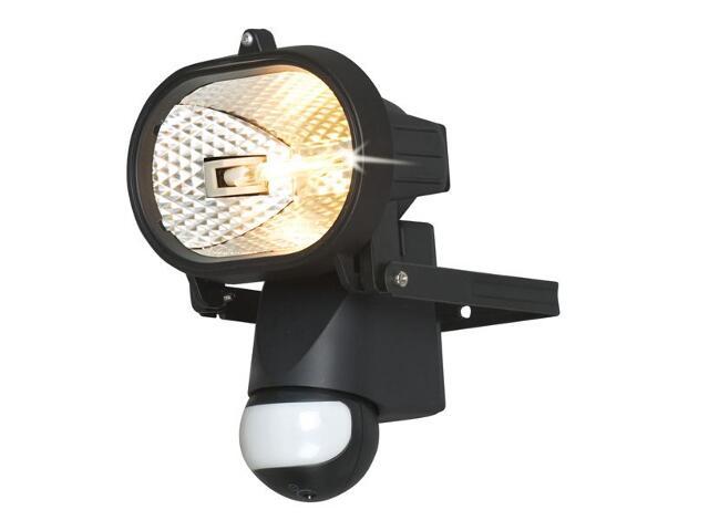 xLampa z czujnikiem ruchu PIR halogenowa EH-381B czarna Eura-Tech
