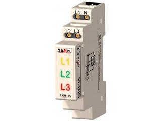 Kontrolka sygnalizacyjna zasilania 230V/400V LED TN typ: LKM-05-40 Zamel