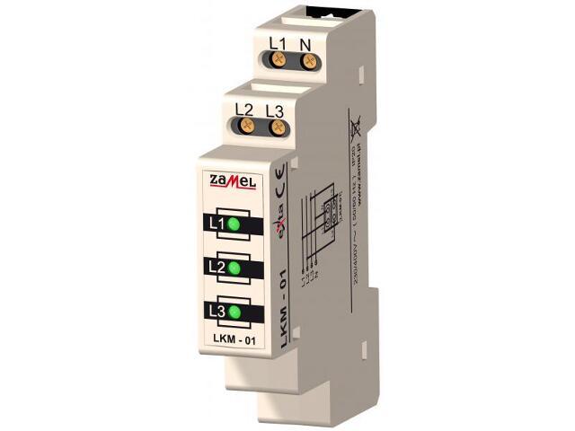 Kontrolka sygnalizacyjna zasilania 230V/400V 3xLED zielone TN typ: LKM-01-20 Zamel