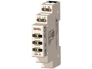 Kontrolka sygnalizacyjna zasilania 230V/400V 3xLED żółte TN typ: LKM-01-30 Zamel