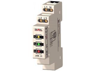 Kontrolka sygnalizacyjna zasilania 230V/400V LED TN typ: LKM-01-40 Zamel