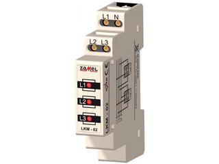 Kontrolka sygnalizacyjna zasilania 230V/400V 3xLED czerwone TN/IT typ: LKM-02-10 Zamel