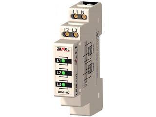 Kontrolka sygnalizacyjna zasilania 230V/400V 3xLED zielone TN/IT typ: LKM-02-20 Zamel