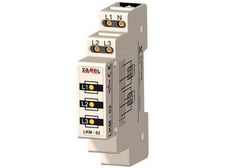 Kontrolka sygnalizacyjna zasilania 230V/400V 3xLED żółte TN/IT typ: LKM-02-30 Zamel