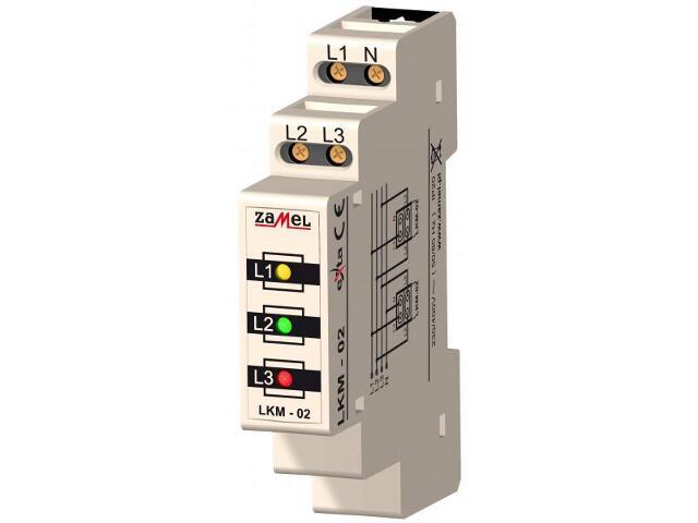 Kontrolka sygnalizacyjna zasilania 230V/400V LED TN/IT typ: LKM-02-40 Zamel