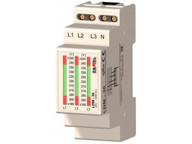 Kontrolka sygnalizacyjna napięcia 3-fazowy 230V typ: LDM-30 Zamel
