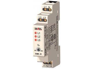 Czujnik kolejności i zaniku faz, asymetrii faz 230/400V typ: CAM-01 Zamel