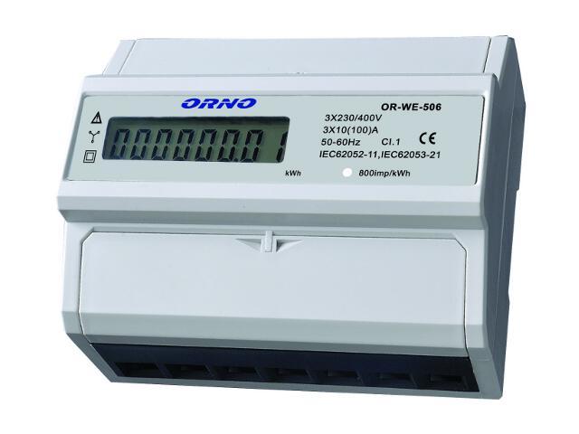 Licznik 3-fazowy wskaźnik zużycia energii elektrycznej z portem RS-485 OR-WE-506 Orno