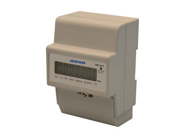 Licznik 1-fazowy wskaźnik zużycia energii elektrycznej OR-WE-502 Orno