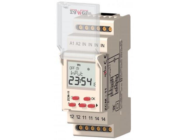 Programator 1-kan. tygodniowy 24-250 VAC/30-300 VDC 16A typ: ZCM-11/U Zamel