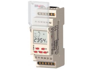 Programator 2-kan. tygodniowy 24-250 VAC/30-300 VDC 16A typ: ZCM-12/U Zamel