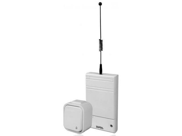 Sterownik bezprzewodowy dzwonka SMYK z przyciskiem hermet. BSD-202H Zamel