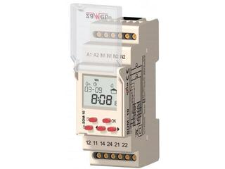 Sterownik dzwonka szkolnego 2-modułowy 230VAC 16A typ: SDM-10 Zamel