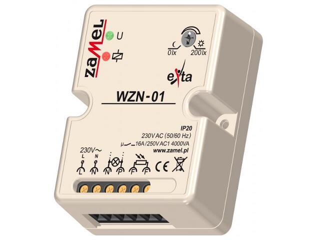Czujnik zmierzchowy natynkowy 230V/16A/IP20 typ:WZN-01 Zamel