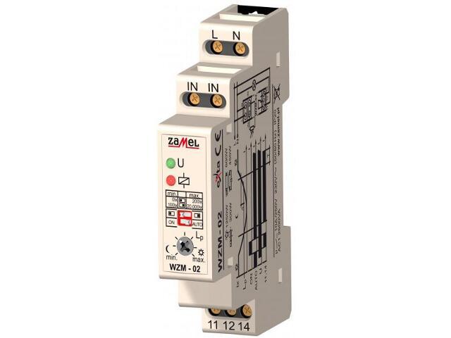 Czujnik zmierzchowy dwuzakresowy 1-modułowy 230V/10A typ:WZM-02 Zamel