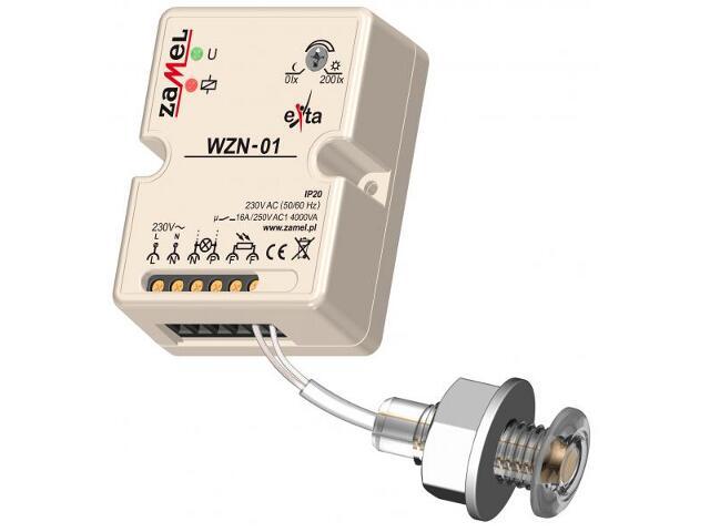 Czujnik zmierzchowy z sondą 1m nadtynkowy typ:WZN-01/S1 Zamel