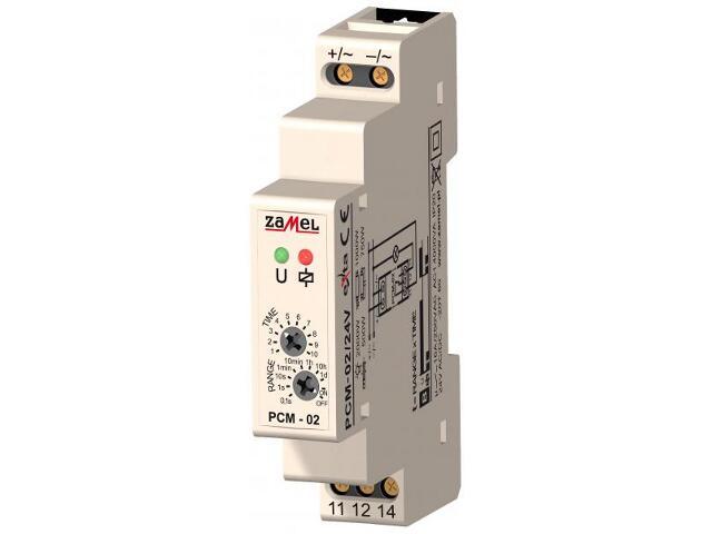 Przekaźnik czasowy opóźnione wyłączenie 24V AC/DC typ: PCM-02/24V Zamel