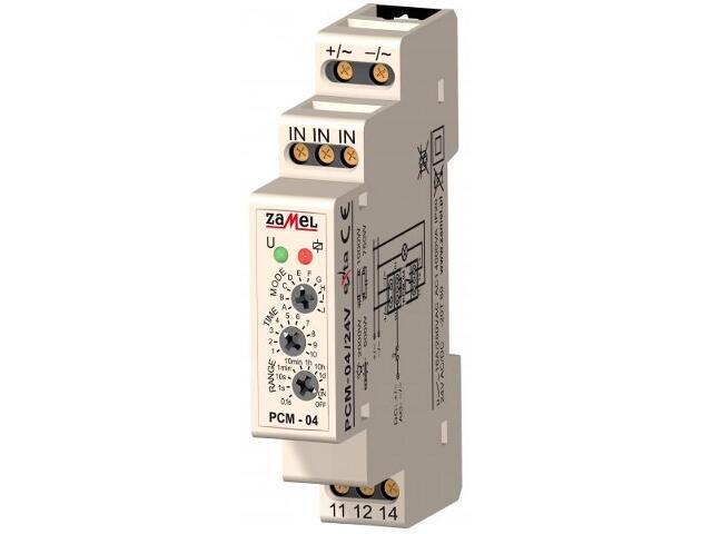 Przekaźnik czasowy wielofunkcyjny 24V AC/DC typ: PCM-04/24V Zamel