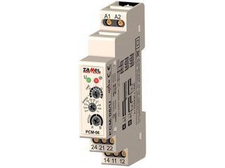 Przekaźnik czasowy dwufunkcyjny 12-240V AC/DC typ: PCM-06/U Zamel