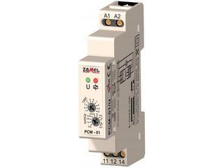 Przekaźnik czasowy opóźnione załączanie 12-240V AC/DC typ: PCM-01/U Zamel
