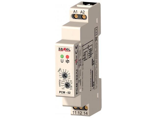 Przekaźnik czasowy opóźnione wyłączanie 12-240V AC/DC typ: PCM-02/U Zamel