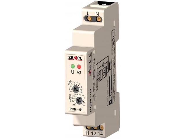 Przekaźnik czasowy opóźnione załączenie 230V typ: PCM-01 Zamel
