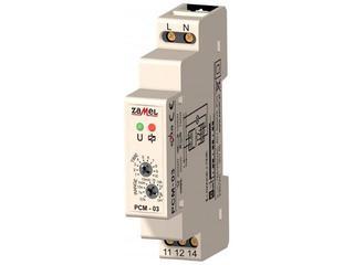Przekaźnik czasowy cykliczne przełączanie START=OFF 230V typ: PCM-03 Zamel