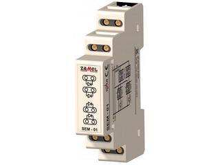 Przekaźnik instalacyjny separator wejść 1-modułowy 230V/1A typ: SEM-01 Zamel