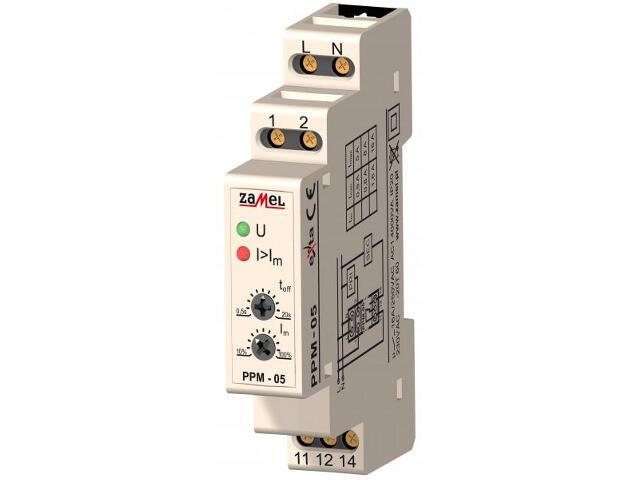 Przekaźnik instalacyjny priorytetowy 230V 1,6-16A typ: PPM-05/16 Zamel
