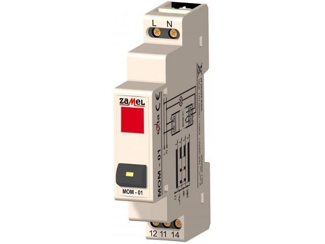 Przekaźnik instalacyjny monostabilny 1-modułowy 230V/zielone LED typ:MOM-01-20 Zamel