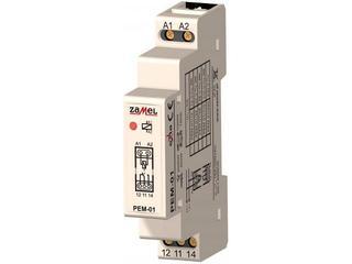 Przekaźnik instalacyjny elektromagnetyczny 1-modułowy 230VAC/16A typ: PEM-01/230 Zamel