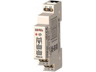 Przekaźnik instalacyjny elektromagnetyczny 1-modułowy 24V AC/DC 2X8A typ: PEM-02/024 Zamel