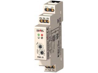 Przekaźnik czasowy bistabilny z wyłącznikiem czasowym 24V AC/DC typ: PBM-03/24V Zamel