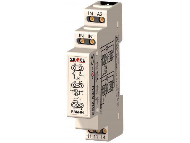 Przekaźnik bistabilny beznapięciowy 12-230V AC/DC typ: PBM-04/U Zamel