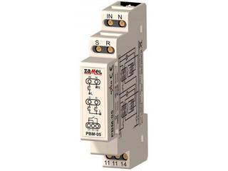 Przekaźnik bistabilny beznapięciowy wejścia SET/RESET 230V typ: PBM-05 Zamel