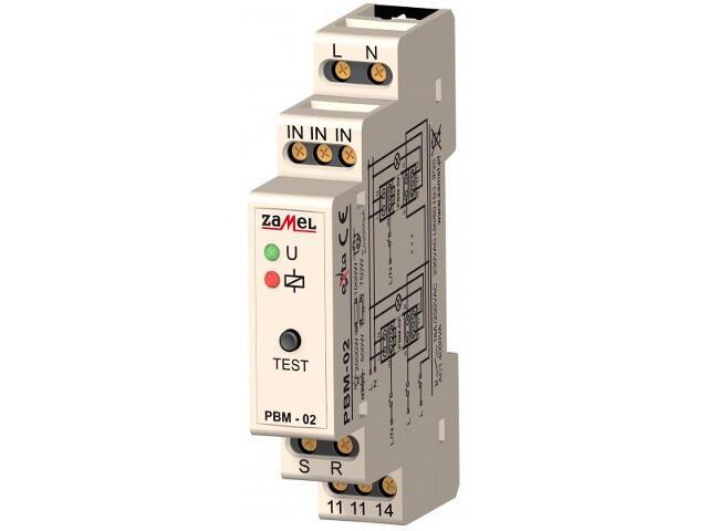 Przekaźnik bistabilny wejścia SET/RESET 230V typ: PBM-02 Zamel