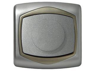 Ściemniacz TON METALIC przyciskowo-obrotowy do żarówek srebro satyna Ospel