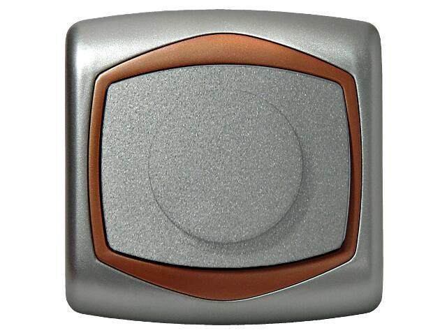 Ściemniacz TON METALIC przyciskowo-obrotowy do żarówek srebro miedź Ospel