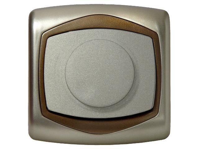 Ściemniacz TON METALIC przyciskowo-obrotowy do żarówek satyna złoto Ospel