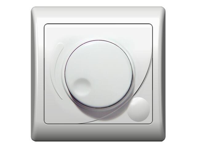 Ściemniacz EFEKT przyciskowo-obrotowy do żarówek biały Ospel