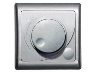 Ściemniacz EFEKT METALIC przyciskowo-obrotowy do żarówek srebro Ospel