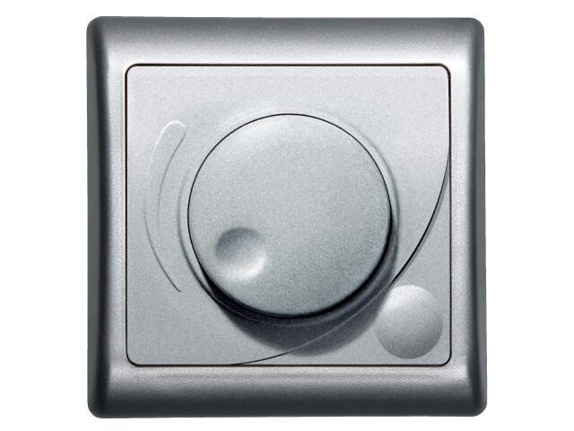 Ściemniacz EFEKT METALIC przyciskowo-obrotowy do żar/halog. srebro Ospel