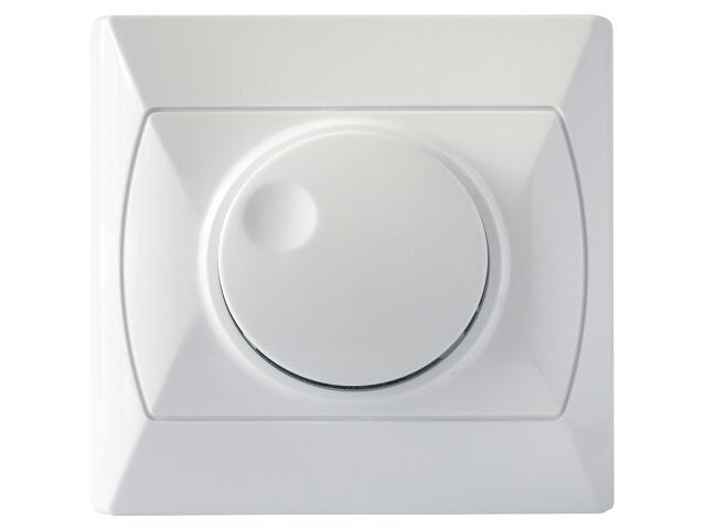 Ściemniacz AKCENT przyciskowo-obrotowy do żar/halog. biały Ospel